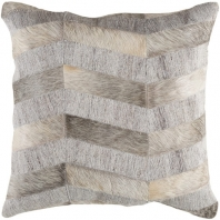 Surya Medora Gray Patches Mid-Century Throw Pillow MOD001