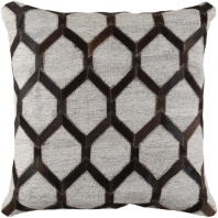 Surya Medora Brown Geometric Mid-Century Throw Pillow MOD002
