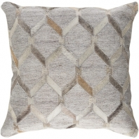 Surya Medora Gray Geometric Mid-Century Throw Pillow MOD003