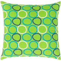 Surya Miranda Green Geometric Mid-Century Throw Pillow MRA001
