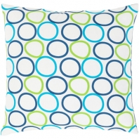 Surya Miranda White Geometric Mid-Century Throw Pillow MRA002