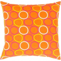 Surya Miranda Orange Geometric Mid-Century Throw Pillow MRA003