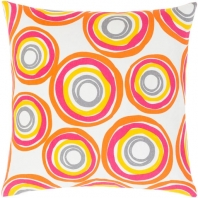 Surya Miranda White Abstract Mid-Century Throw Pillow MRA004