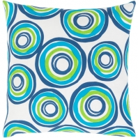 Surya Miranda Blue Abstract Mid-Century Throw Pillow MRA005
