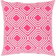 Surya Miranda Pink Geometric Mid-Century Throw Pillow MRA006