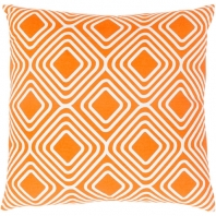 Surya Miranda Orange Geometric Mid-Century Throw Pillow MRA007