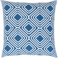 Surya Miranda Blue Geometric Mid-Century Throw Pillow MRA009