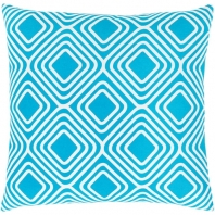 Surya Miranda Blue Geometric Mid-Century Throw Pillow MRA010