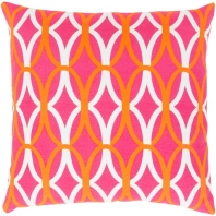 Surya Miranda Pink Geometric Mid-Century Throw Pillow MRA011