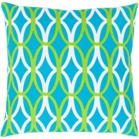 Surya Miranda Blue Geometric Mid-Century Throw Pillow MRA012