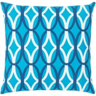 Surya Miranda Blue Geometric Mid-Century Throw Pillow MRA013