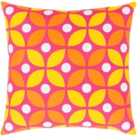 Surya Miranda Pink Geometric Mid-Century Throw Pillow MRA014