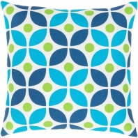 Surya Miranda Blue Geometric Mid-Century Throw Pillow MRA015