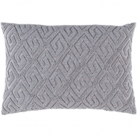 Surya Marielle Gray Geometric Beaded Mid-Century Throw Pillow MRL002