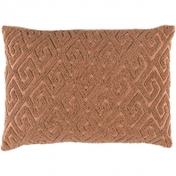 Surya Marielle Beige Geometric Beaded Mid-Century Throw Pillow MRL003