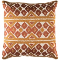 Surya Morowa Beige Embroidered Throw Pillow MRW002