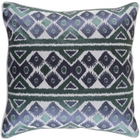 Surya Morowa Gray Embroidered Throw Pillow MRW003