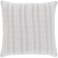 Surya Milton Gray Braid Knitted Throw Pillow MTN001