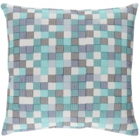Surya Modular Green Geometric Throw Pillow MUL001
