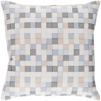 Surya Modular Black Geometric Throw Pillow MUL002