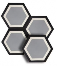 "Soci Gramercy 8"" Hexagon Tile SSU-1500"