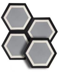 "Soci Gramercy 8"" Hexagon Tile SSU-1500"
