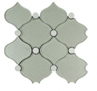 Soci Milan Grand Pattern Glass and Stone Arabesque Tile SSA-1201