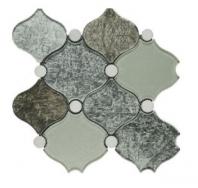 Soci Venice Grand Pattern Glass and Stone Arabesque Tile SSA-1202