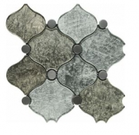 Soci Berlin Grand Pattern Glass Arabesque Tile SSA-1203