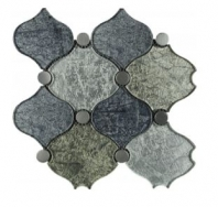 Soci Madrid Grand Pattern Glass Arabesque Tile SSA-1204
