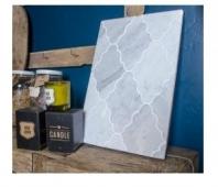 Soci White Carrera Opus Pattern Arabesque Tile SSC-1302