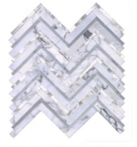 Soci Calacutta Duet Herringbone Herringbone Tile SSC-1311