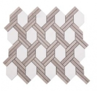 Soci Knot Pattern Everett Blend Hexagon Tile SSC-1322
