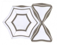 Soci Monarch Pattern Sonata Blend Hexagon Tile SSC-1331