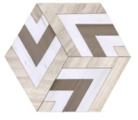Soci Metro Pattern Sonata Blend Hexagon Tile SSC-1344