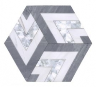 Soci Metro Pattern Iceland Blend Hexagon Tile SSC-1345