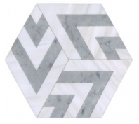 Soci Metro Pattern Grace Blend Hexagon Tile SSC-1346