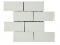 Soci White Crackle 3x6 Brick Tile SSE-813