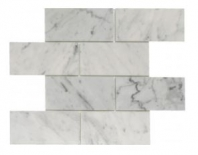 Soci White Carrera Brick 3x6 Subway Tile SSH-275