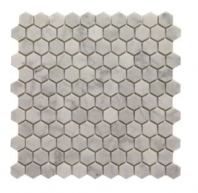 "Soci White Carrera 1"" Hexagon Tile SSH-289"