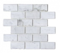 Soci White Carrera Bevel 2x4 Brick Tile SSH-290