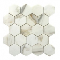 "Soci Calacutta 3"" Hexagon Tile SSH-295"