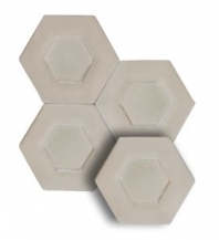 "Soci Dual Ivory 5.25"" Hexagon Tile SSN-1521"