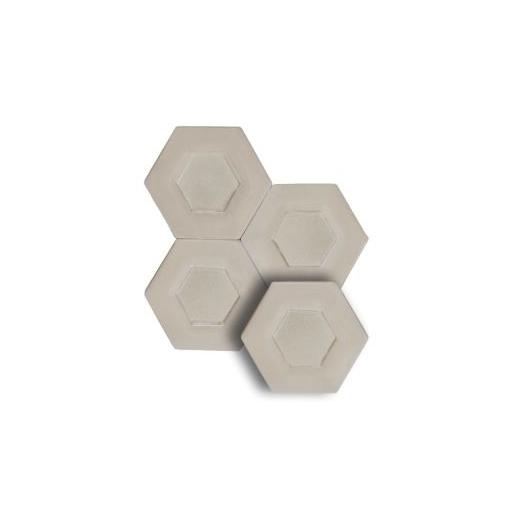"Soci Dual Ivory 5.25"" Hexagon Tile SSN-1521"