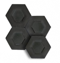 "Soci Dual Carbon 5.25"" Hexagon Tile SSN-1523"