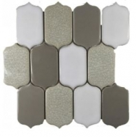 Soci Alabaster Blend Picket Mosaic SSR-1423