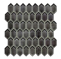 Soci Gun Metal Vault Mini Picket Hexagon Tile SSR-1439