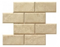 Soci Ivory Pillow Edge Honed 3x6 Subway Tile SSV-630