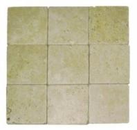 Soci Ivory Tumbled 4x4 Field Tile SSK-706