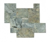 Soci Silver Travertine Versailles Pattern Chiseled Tile SSK-733